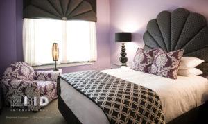 Purple Hotel Guestroom Bed and Breakfast Purple Bedroom North Carolina