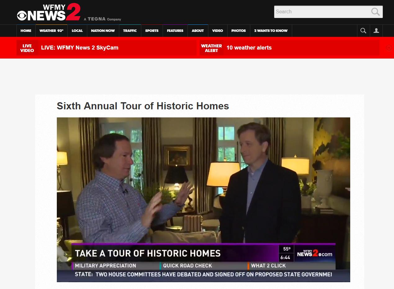 wfmy news 2 features Greensboro Interior Design firm MBID International Historic Home Design Greensboro