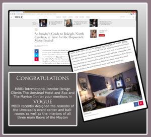 Design Firm Hotels in Vogue